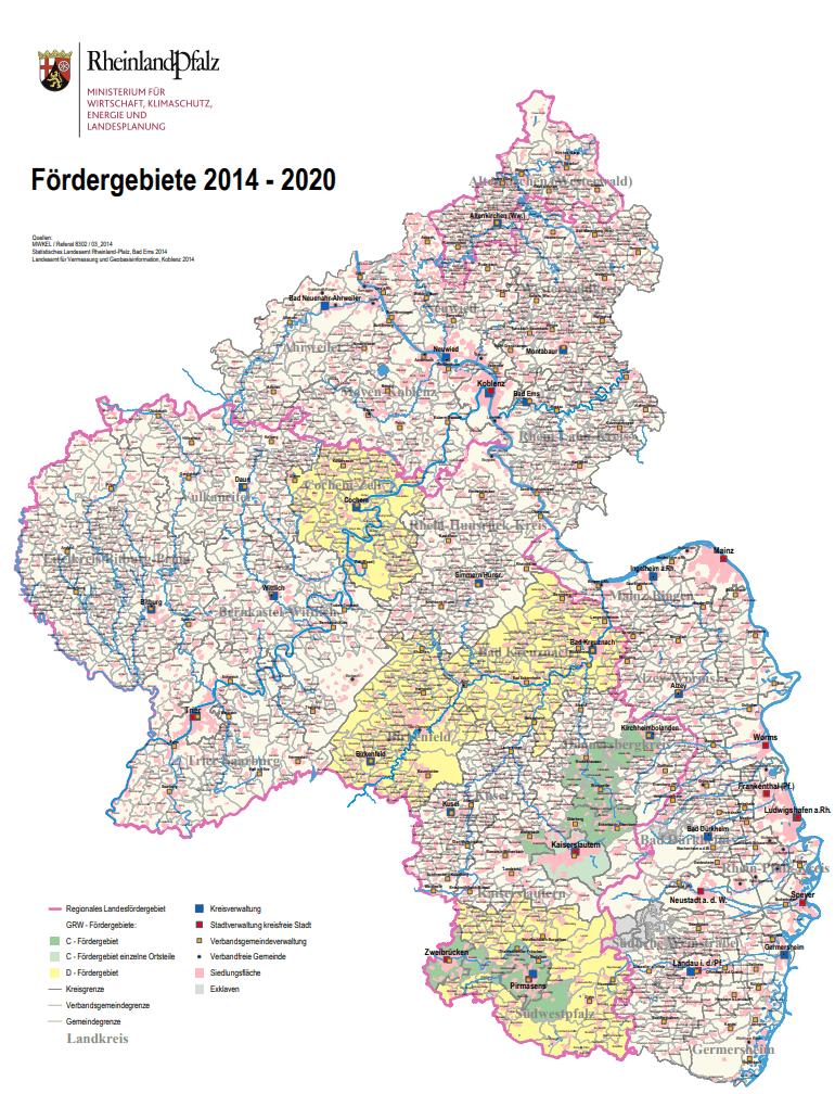 Fördergebietskarte RLP
